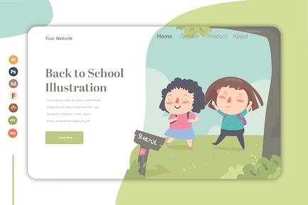 Back To School vol.2 - Landing Page Tempalte