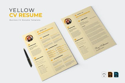 Yellow Bubble   CV & Resume