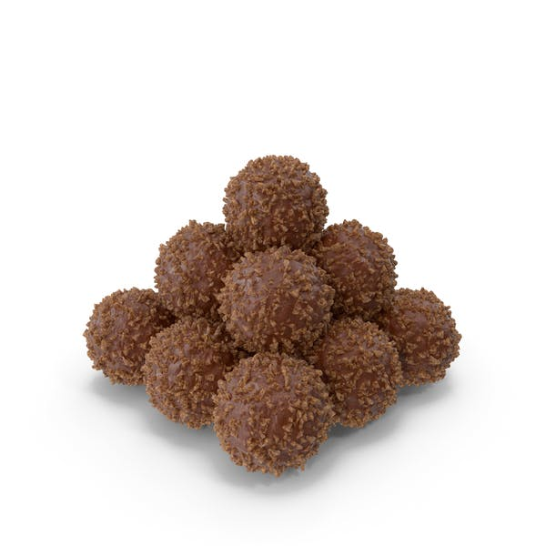 Thumbnail for Pile of Chocolate Balls with Nuts