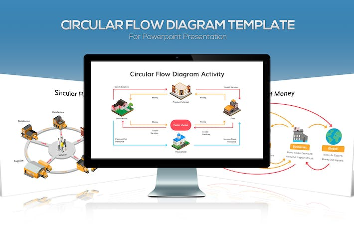 Thumbnail for Circular Flow Diagram for Powerpoint