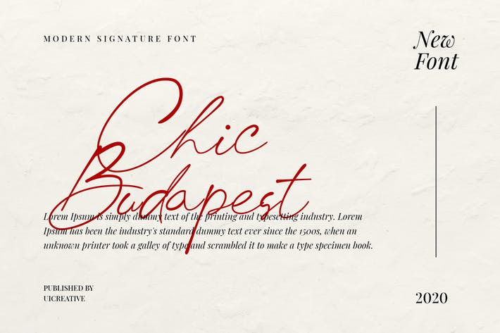 Thumbnail for Chick Budapest Signature Font