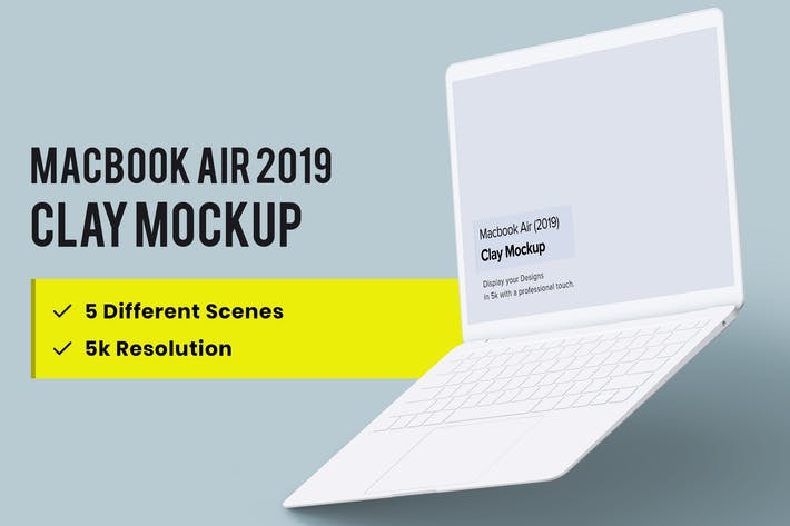 Thumbnail for Clay Macbook Air Mockup 1.0