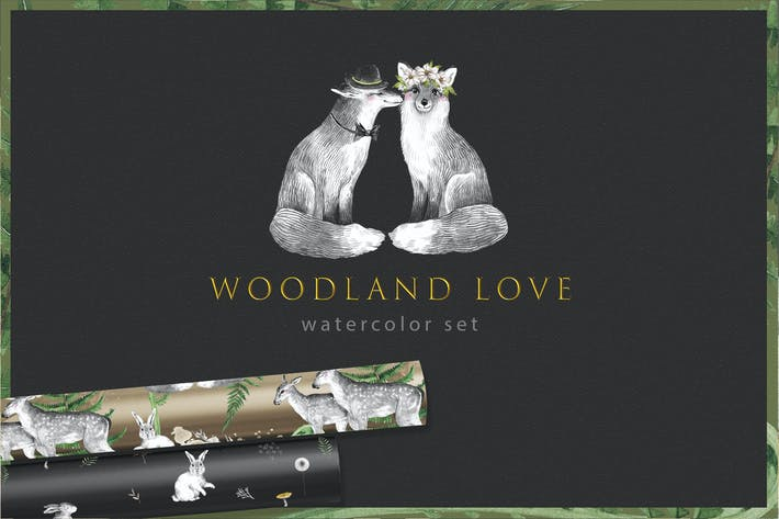 WOODLAND LOVE watercolor set