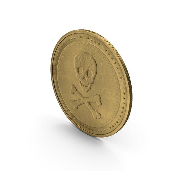 Золотой медальон Череп