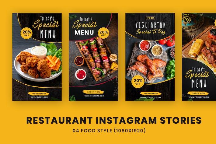Thumbnail for Restaurant alimentaire Instagram Stories Modèle