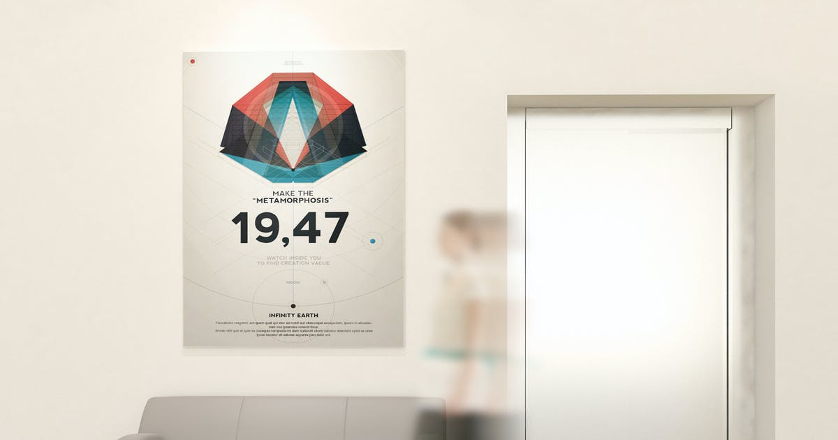 Download Poster and Art Wall Mockups by Wutip
