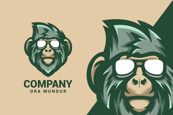 Thumbnail for Monkey Logo Mascot