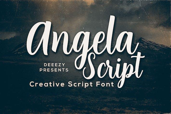 Thumbnail for Angela Script Font