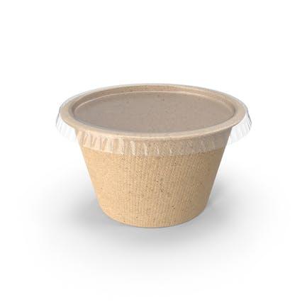 Recycelter Lebensmittelbehälter