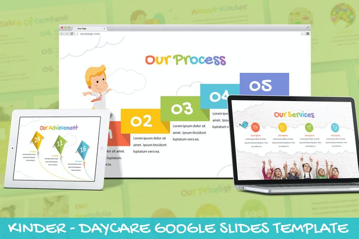 Thumbnail for Kinder - Daycare Google Slides Template