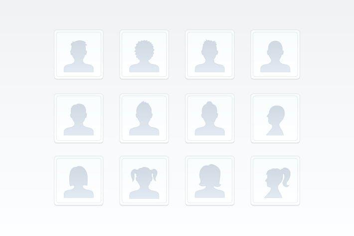 Menschen Silhouetten Icons