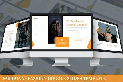 Fashiona - Fashion Google Slides Template