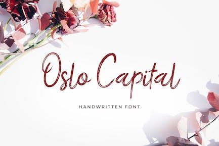 Oslo Capital Handwritten Font