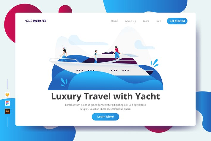 Thumbnail for Luxury Travel with Yacht - Landing Page