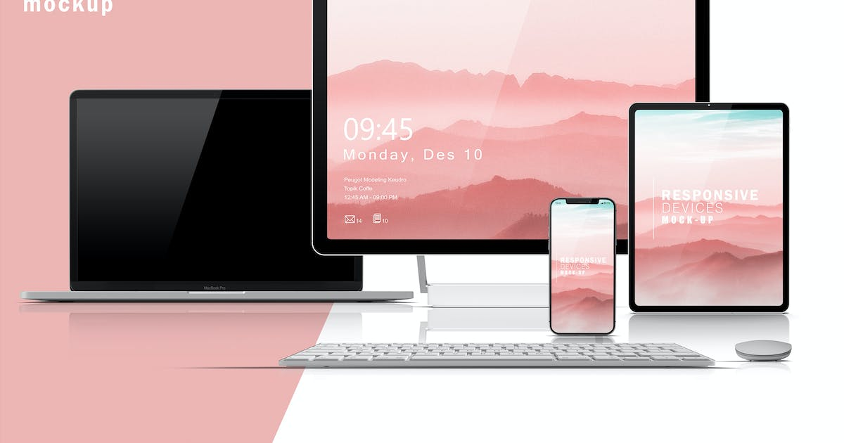 Download Responsive Devices Mockup V.3 by GraphicMonday