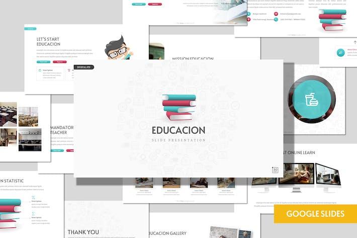 Thumbnail for Educacion - Образование Google Слайды Шаблон