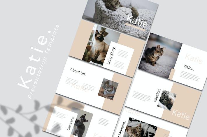 Katie — Шаблон Keynote домашних животных