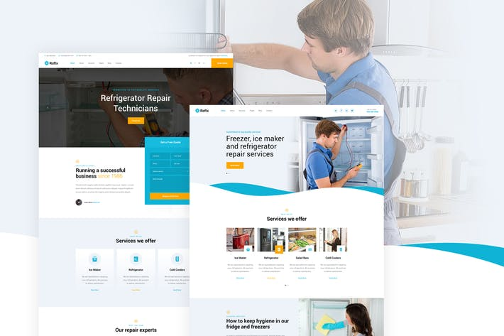 Thumbnail for Refix - Fridge & Freezer Repair Company PSD