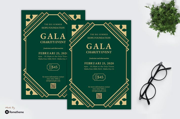 Thumbnail for Gala Charity Event - Great Gatsby Party Flyer RB