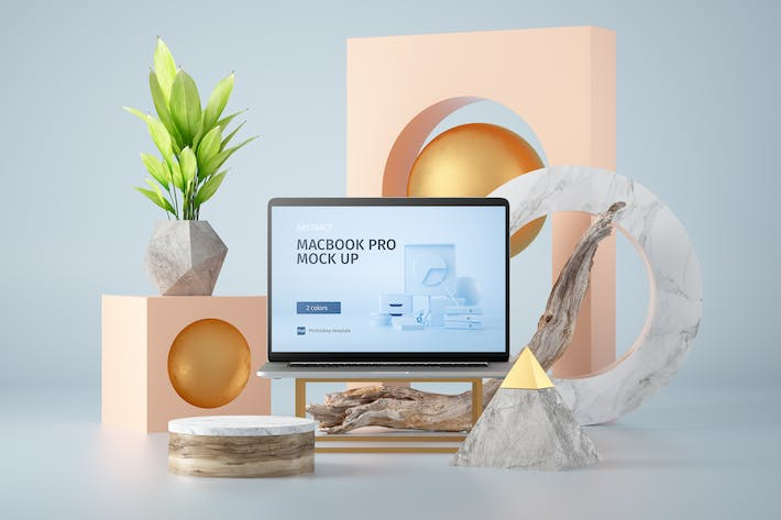 Thumbnail for Abstract Macbook Pro Mockup vol.01