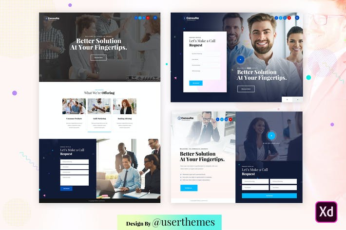 Thumbnail for Business Consulting Featured Adobe XD Template