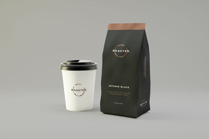Thumbnail for Coffee Packaging Mockup