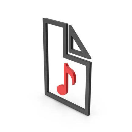 Symbol Audio File Red