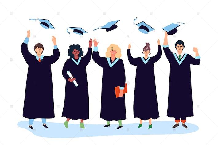 Thumbnail for Graduation concept - flat design illustration