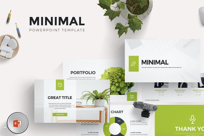 Thumbnail for Minimal Powerpoint Template