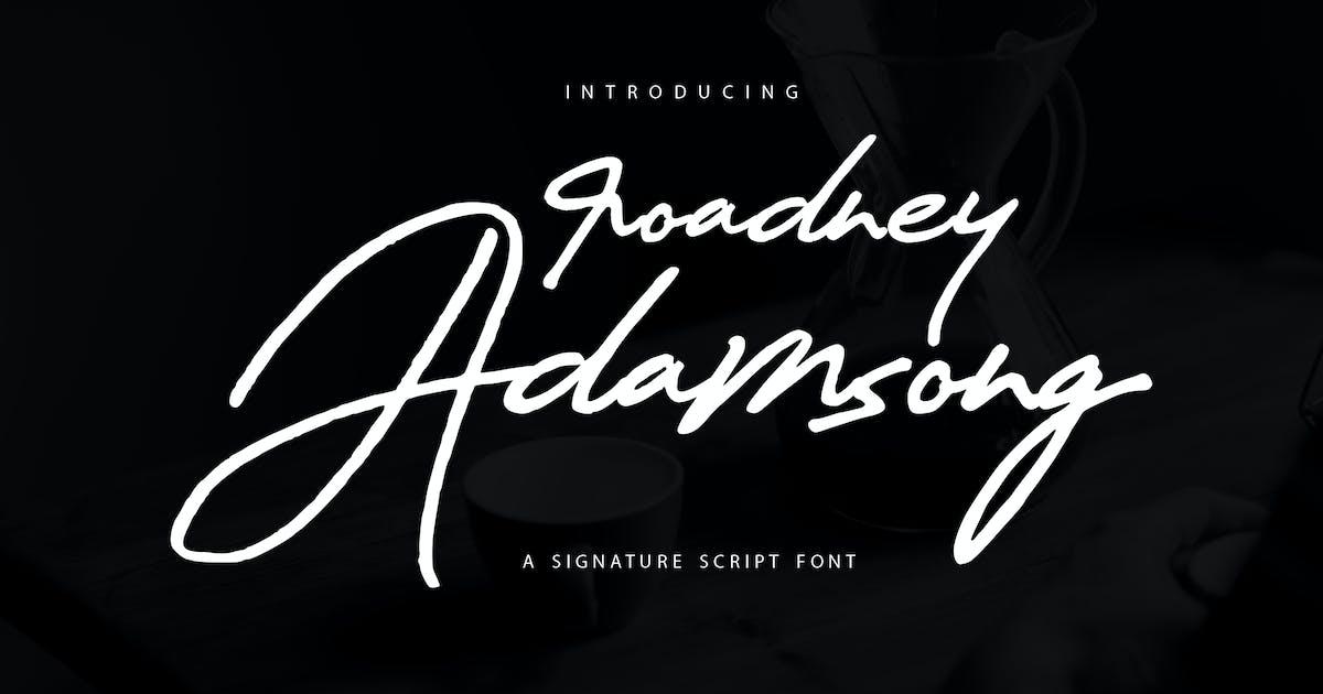 Download Roadney Adamsong | Signature Script Font by Vunira