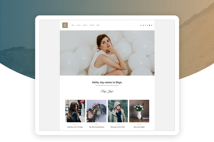 Thumbnail for Solo - Modern Personal Blog Template