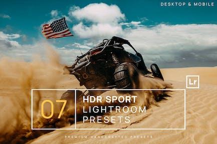 7 HDR Sports Lightroom Presets + Mobile