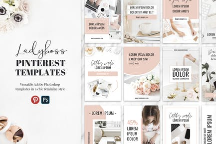 Ladyboss Pinterest Templates