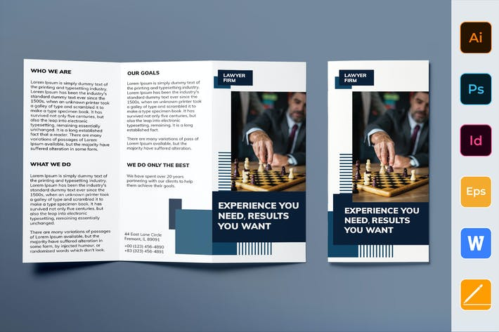 Thumbnail for Law Firm Brochure Trifold
