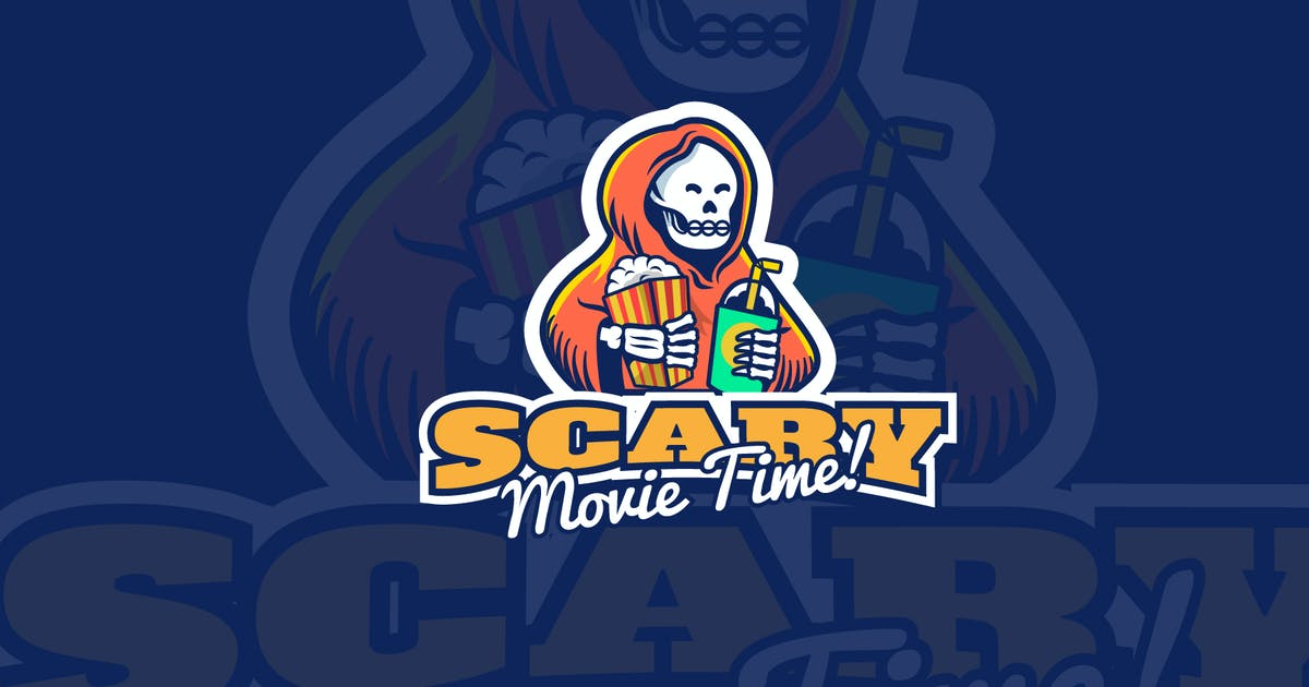 Download scary movie time - Mascot & Esport Logo by aqrstudio