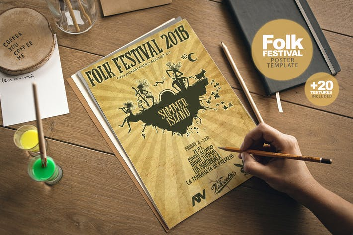 Thumbnail for Folk Festival Poster + Extras