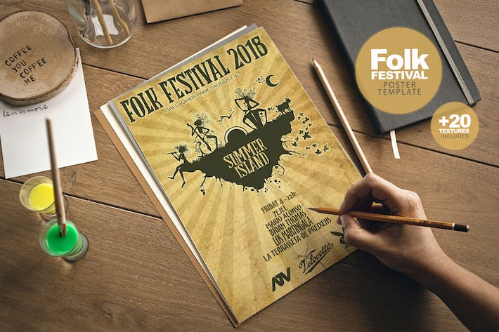 Cover Image For Folk Festival Poster + Extras