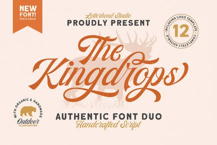 The Kingdrops - Font Duo & Logos