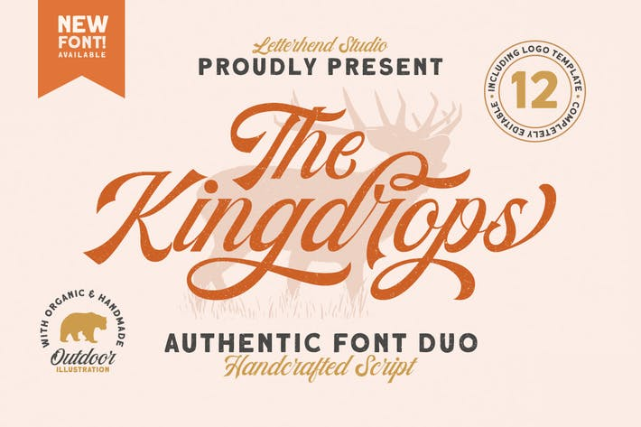 The Kingdrops - Font Duo & Logotipos