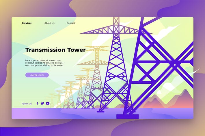 Thumbnail for Transmission Tower - Banner & Landing Page