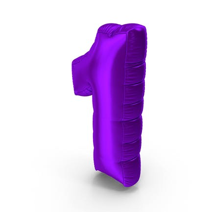 Foil Balloon Number 1 Purple