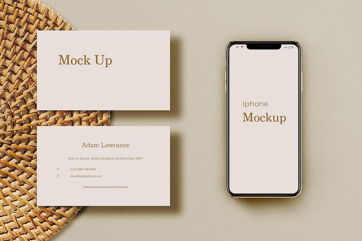 Thumbnail for Natural Business Card Mockup Vol.2