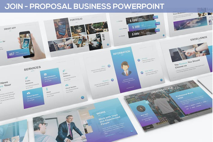 Thumbnail for JOIN - Proposal Business Powerpoint Template