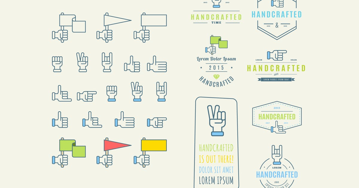 Download Trendy Retro Vintage Insignias and Logo. handcraft by fet
