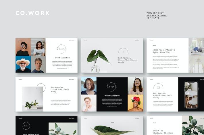 Thumbnail for Cowork - простой и чистый Шаблон Powerpoint