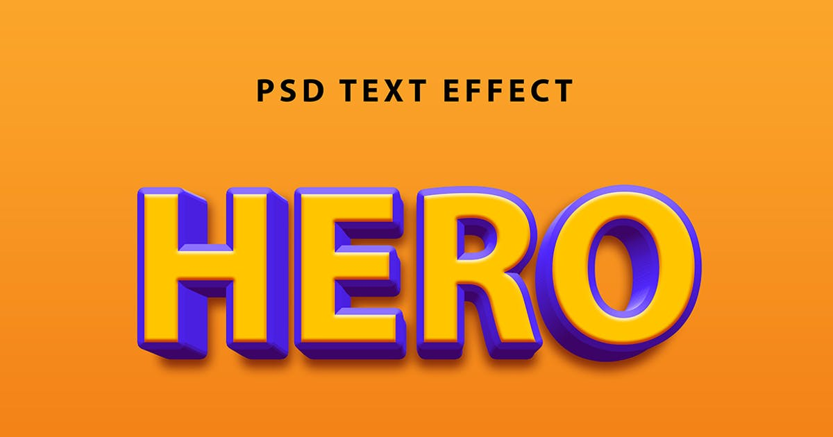 Download Hero text effect by wudelmbois
