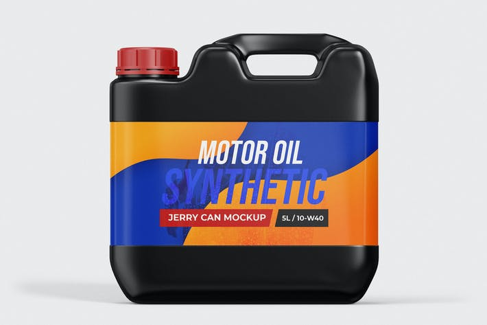 Plastic Jerry Can Mockup Template