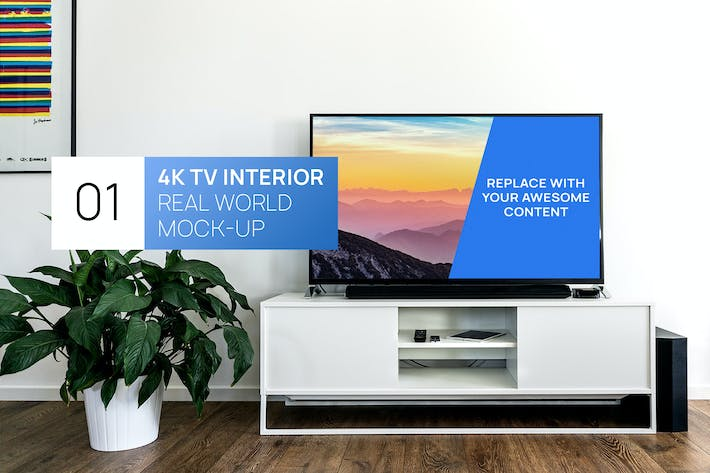 Thumbnail for 4K TV Interior Real World Mock-up