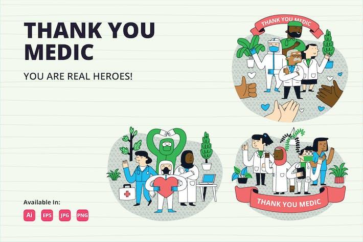 Thumbnail for Ilustración de Thank You Medic