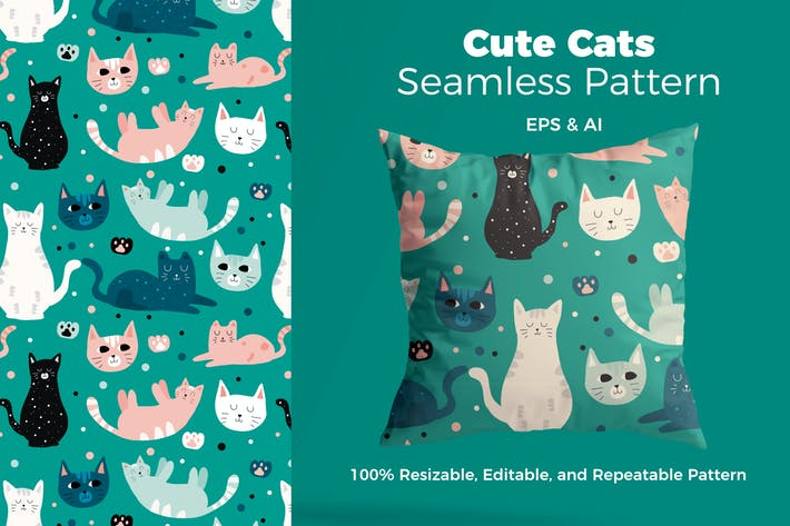 Thumbnail for Beautful Cat Pattern